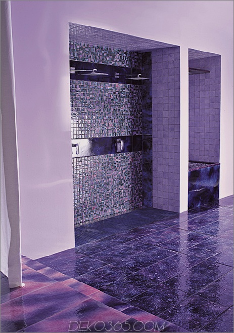 violette Badezimmerideen von Franco Pecchioli entwirft 2 Purple Bathroom und Purple Bathroom Ideas & Designs von Franco Pecchioli Ceramica