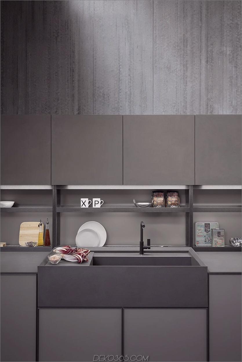 Bauernhausspüle im modernen Stil Linear ausgestattete Küche von Zampieri ist stilisiert
