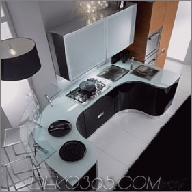Abgerundete Küche von Fiamberti - trendige Rolly-Küche