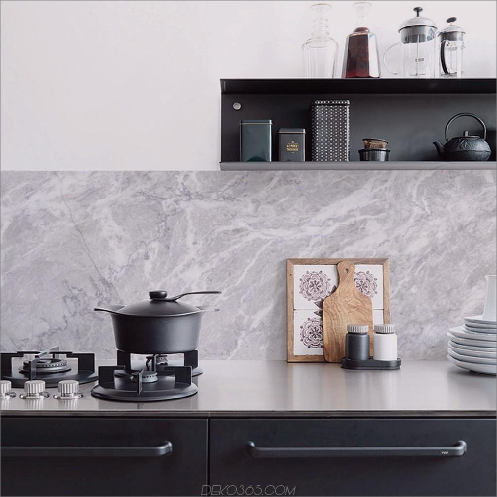 Marmorküche 2 lustige Möglichkeiten, Ihre Küche zu tapezieren