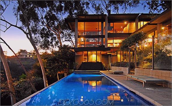ray kappe residence 1 Luxus-Glasvilla in Los Angeles mit Blick auf das Tal für 4,5 Millionen US-Dollar