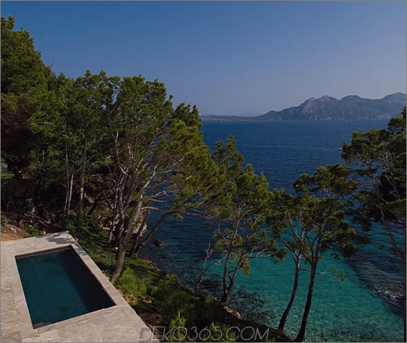 mallorca house 9 Das luxuriöse Sommerhaus mit mediterranem Design bietet einen atemberaubenden Ausblick vom Pool auf dem Dach!