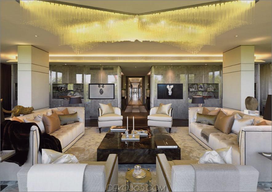 Wohnzimmer in einem Hyde Park Penthouse London