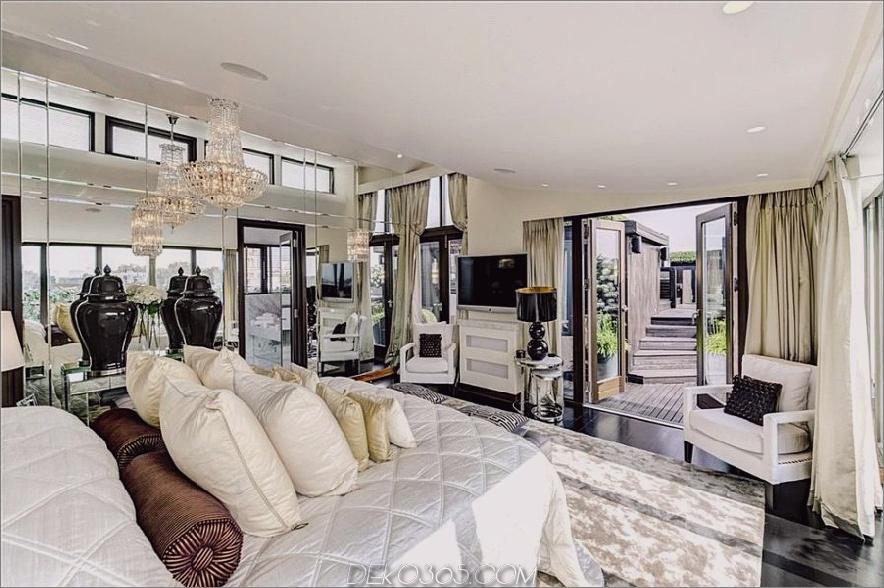 Hugh Grants London Penthouse, Schlafzimmer