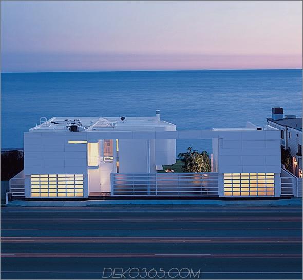 richard meier beach house 1 Luxus-Strandhäuser - Oceanfront-Design mit weißen Außen- und Inneneinrichtungen