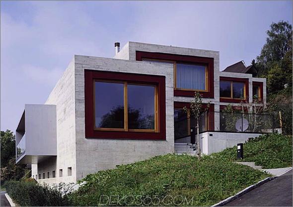 Han Bit Haus 1 Luxus-Betonfestung am Zürichsee, Schweiz Wir mögen Beton!