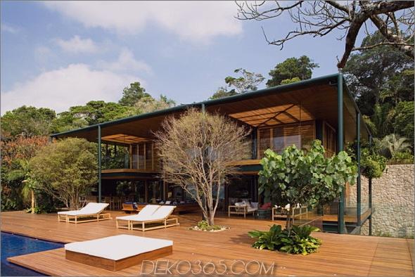 Guaruja-Haus 3 Luxus-Strandhaus in Brasilien am Strand Paradies
