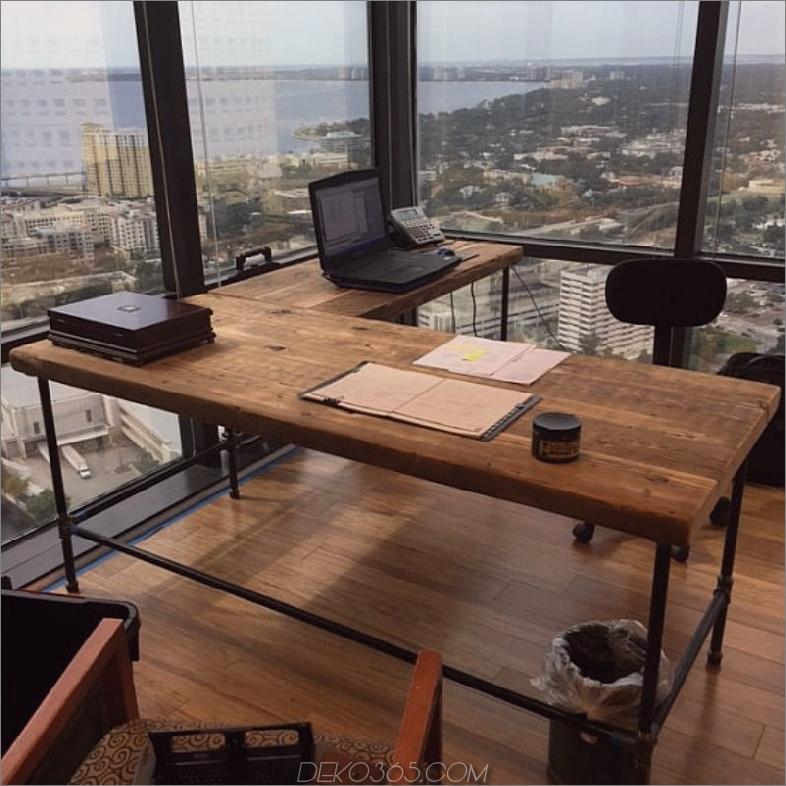 Reclaimed Holz l geformter Schreibtisch Luxury Offices: Wunderschöne Recycled Wooden Desks