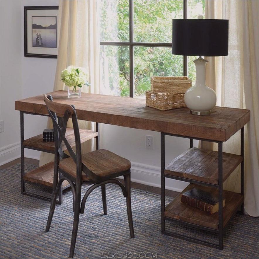 Industrieller Schreibtisch aus wiederverwendetem Holz 900x900 Luxury Offices: Wunderschön aus Holz gewonnene Schreibtische