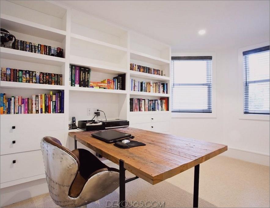 Weißer Schreibtisch aus Holz
