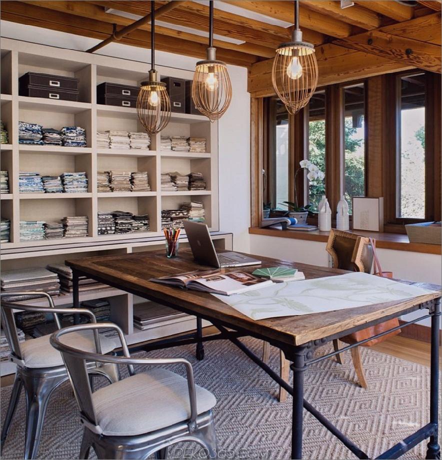 Tisch-Schreibtisch aus recyceltem Holz