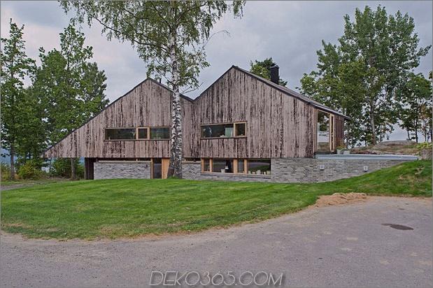 Fjordhaus mit mförmigem Dach und rustikalem Stil 2 thumb 630xauto 32524 M Formgebautes Fjordhaus in verwittertem Holz