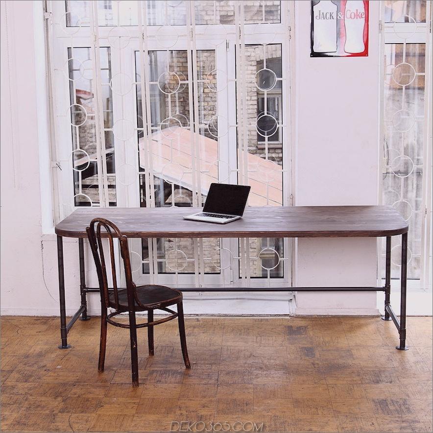 Industrieller Schreibtisch 900x900 Machen Sie Ihr Büro umweltfreundlicher mit einem Schreibtisch aus wiederverwendetem Holz