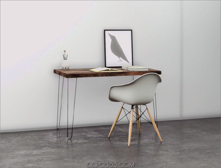 Distressed Wood Schreibtisch oder Tisch 900x685 Machen Sie Ihr Büro umweltfreundlicher mit einem Schreibtisch aus recyceltem Holz