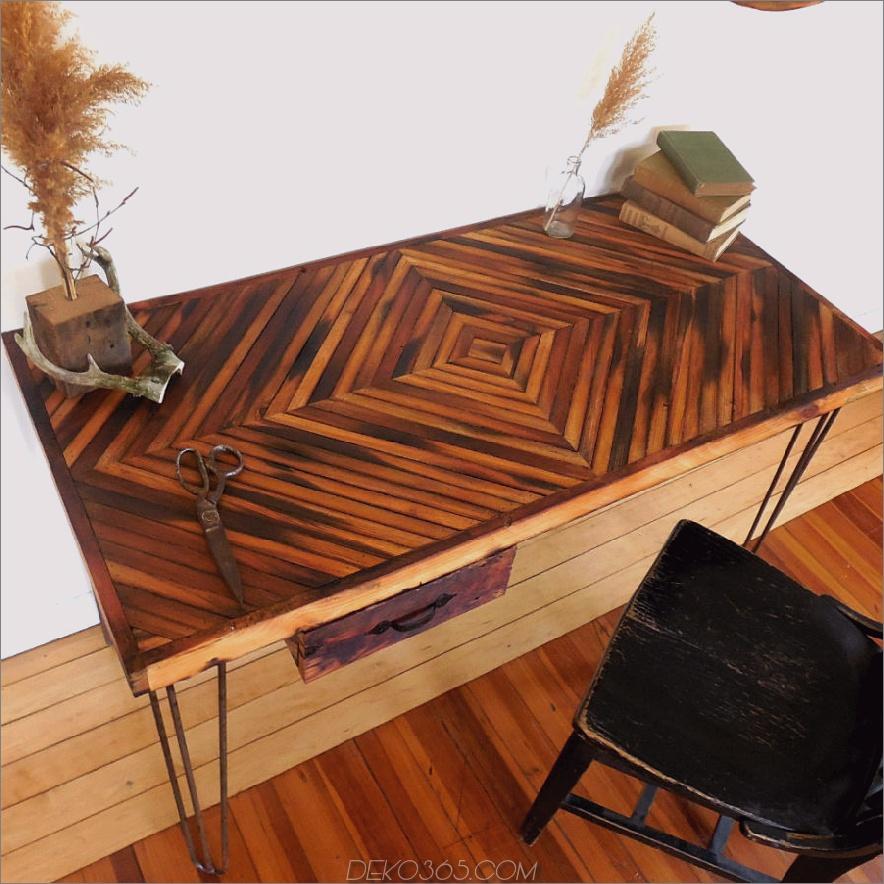 Zurückgefordert Holz Schreibtisch-Diamant-Muster