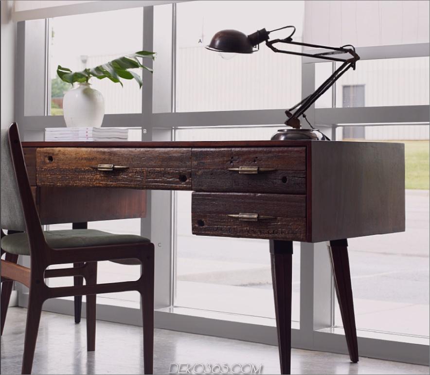 Mitchell Rustikaler Holz Schreibtisch
