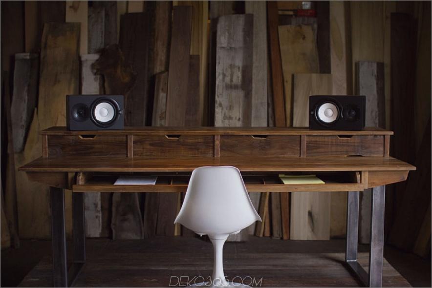 Studio Desk für Audio- und Videoproduktion mit Keyboard Workstation Shelf und Rack-Einheiten