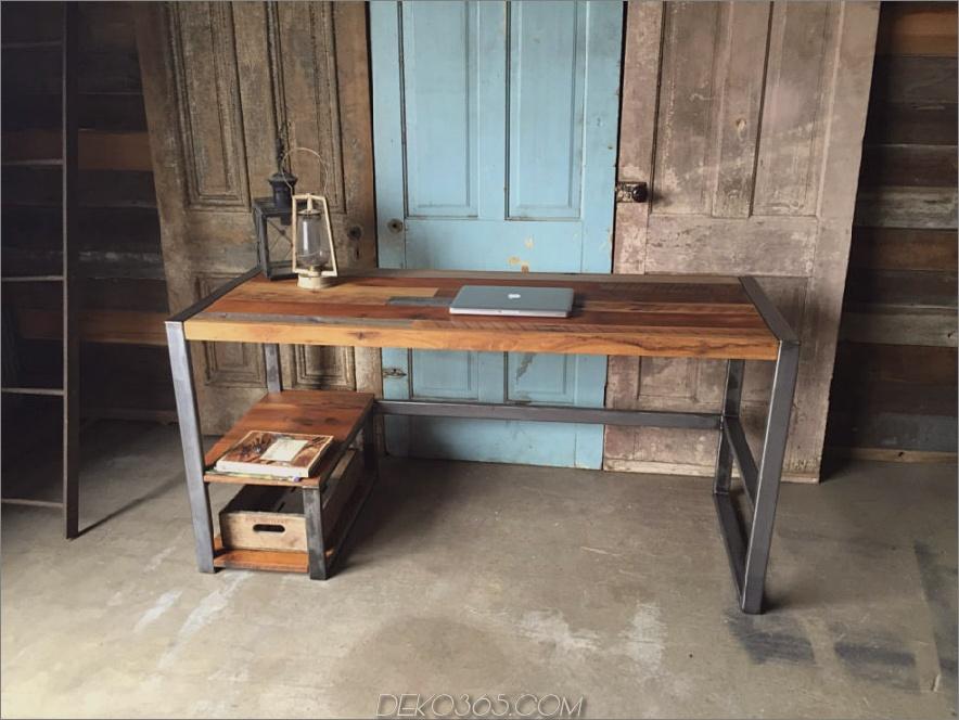 Zurückgeforderter Barn Wood Patchwork Schreibtisch
