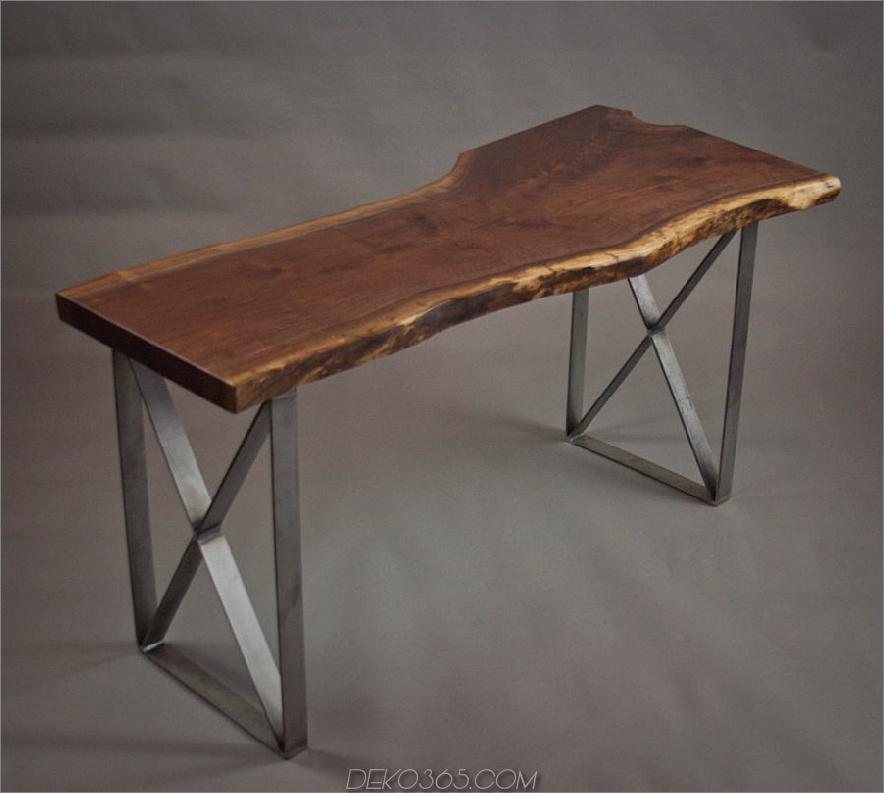 Epis & Wood Live Edge Nussholz Schreibtisch