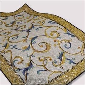 Fliesenmosaik-Teppich von Sicis - neue Glasfliesen-Teppiche Bisanzio