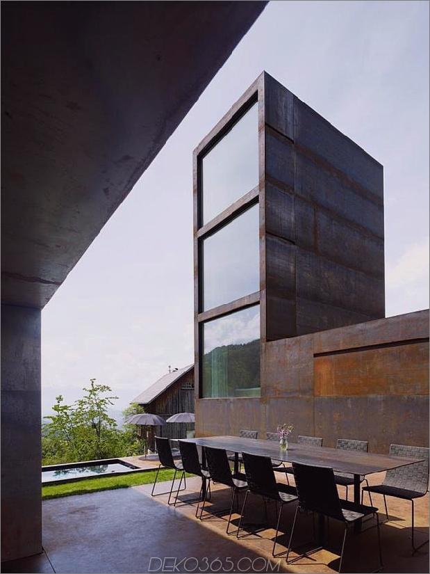 Schlafzimmerturm aus oxidiertem Stahl präsidiert Hauspool 1 Turm thumb autox840 45972 Marte Marte baut Stahlturm für drei Töchter