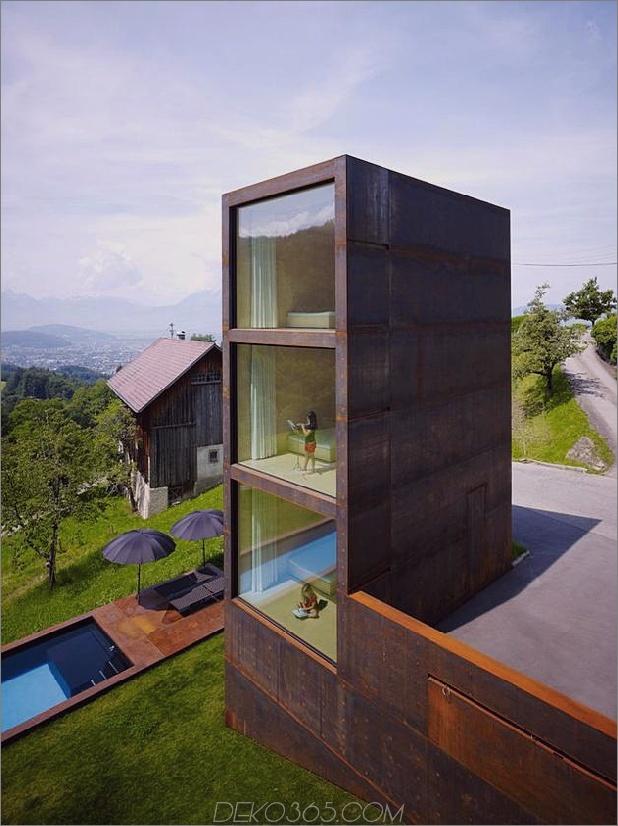 Schlafzimmer-Turm-Präsident-Haus-Pool aus oxidiertem Stahl-18-site.jpg