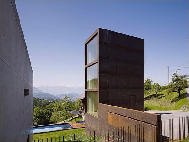 Schlafzimmer-Turm-Präsident-Haus-Pool aus oxidiertem Stahl-19-site.jpg