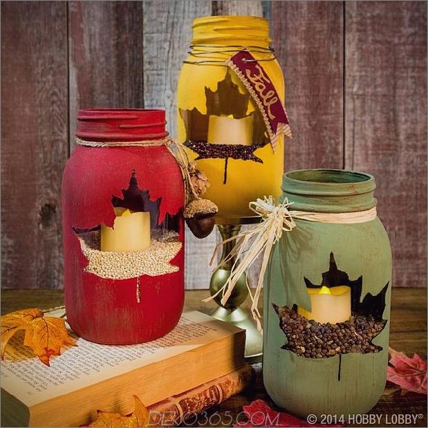 Kreidefarbe und Schablonenblatt Einmachglas-Mittelstück Daumen 630xauto 49545 Einmachglas-Weihnachtsmittel 16 moderne einfache DIY-Ideen