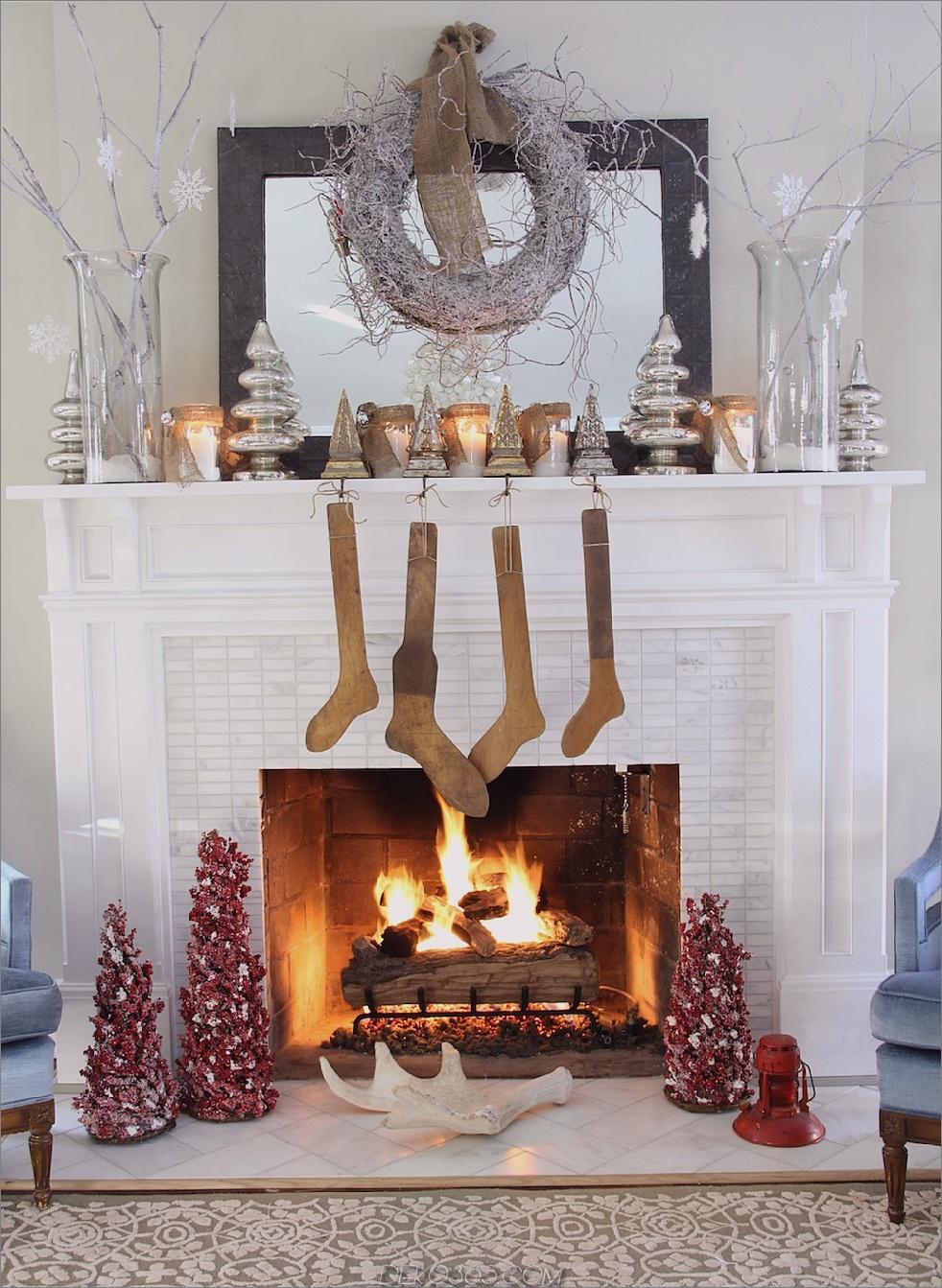 Mini-Bäume auf Kaminsims Mini Weihnachtsbaum Dekor, die eine ganze Menge Sinn machen