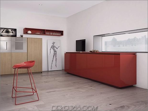 minimalistische Küche mit roten Akzenten von Comprex-9.jpg