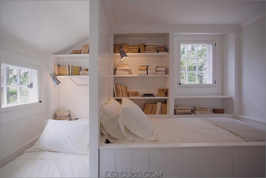 Eingebaute Betten und Regale