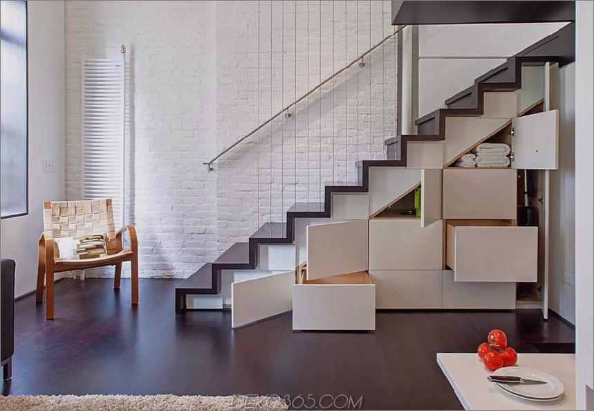 Treppenhaus versteckte Lagerung von Specht Architects