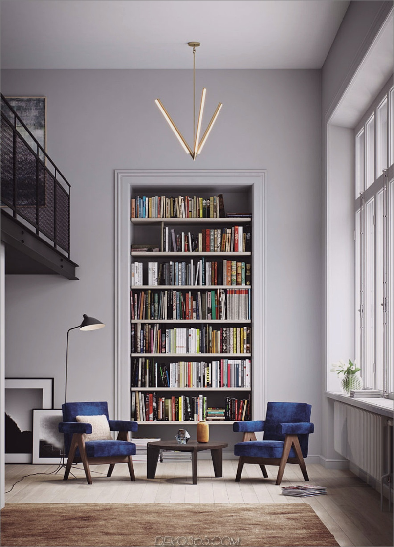 Eingebautes Bücherregal