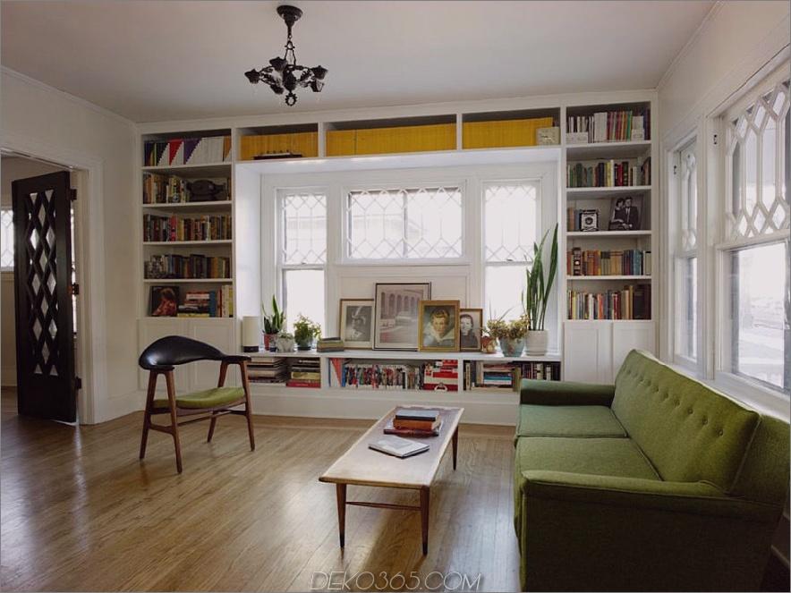 Fenster eingebaute Bücherregale