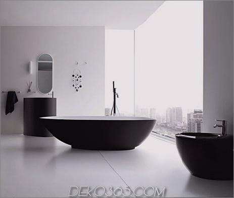 moderne elegante badezimmer vela black white rexa 3 Modernes elegantes badezimmer Vela badezimmer in schwarz & weiß von Rexa