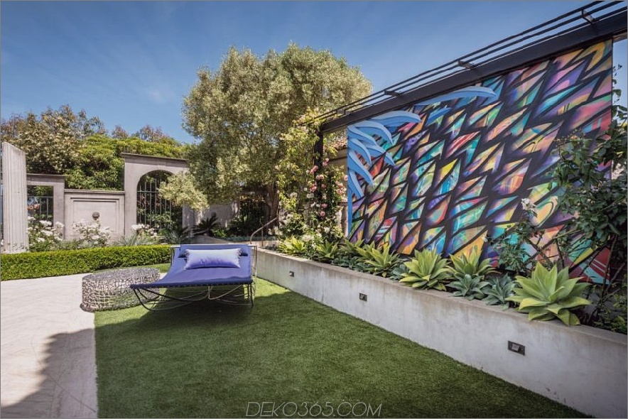 Moderne Gartenmerkmalswand