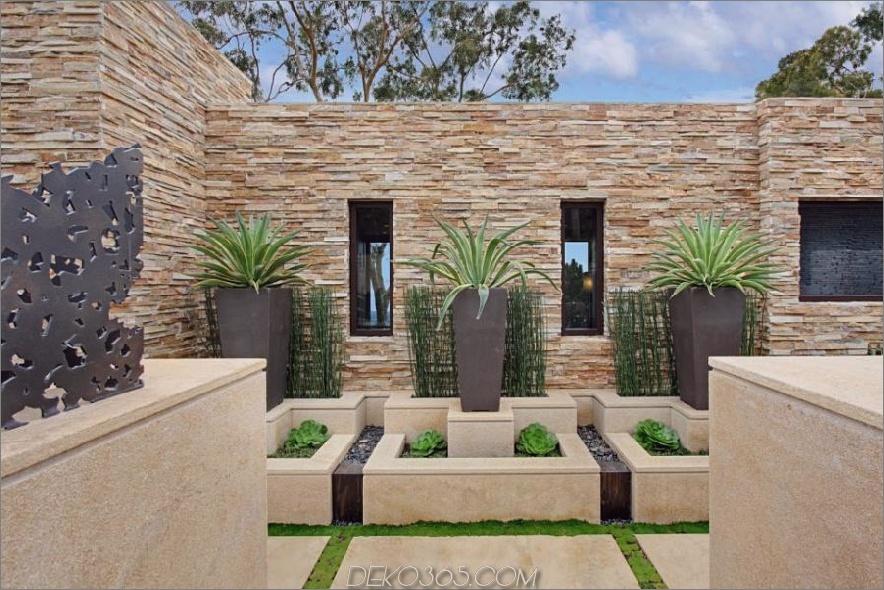 Moderner wasserloser Garten