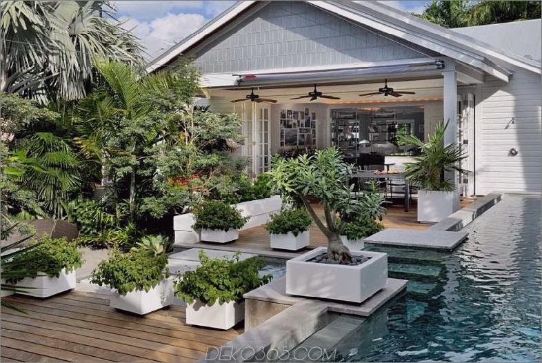 Schwimmbad Terrasse Garten
