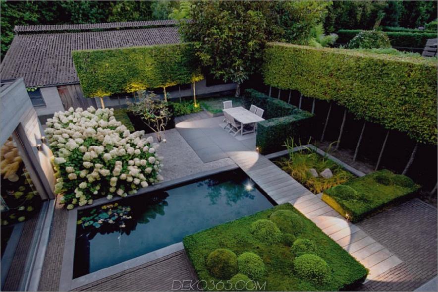 Moderner Garten im Freien