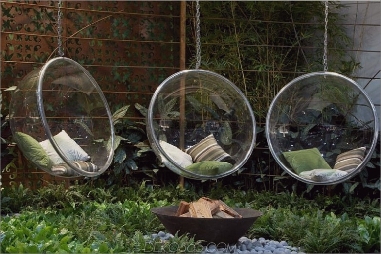 Moderne Gartenhängesitze