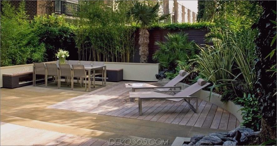 Moderne Gartenterrasse