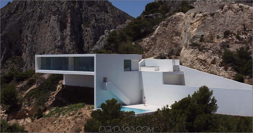 Haus auf der Klippe von Fran Silvestre Arquitectos