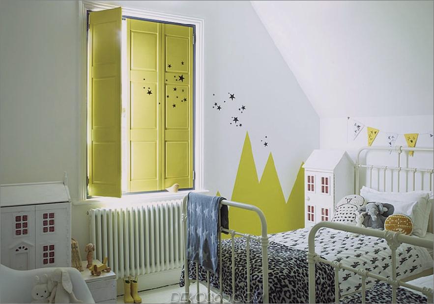 Gelbe Fensterläden für Kinder