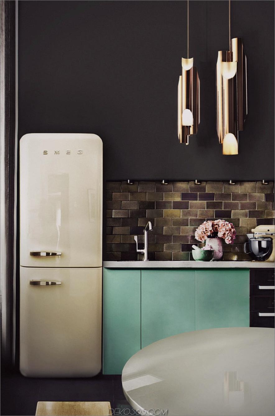 Anspruchsvolle Küche mit Retro-Touch
