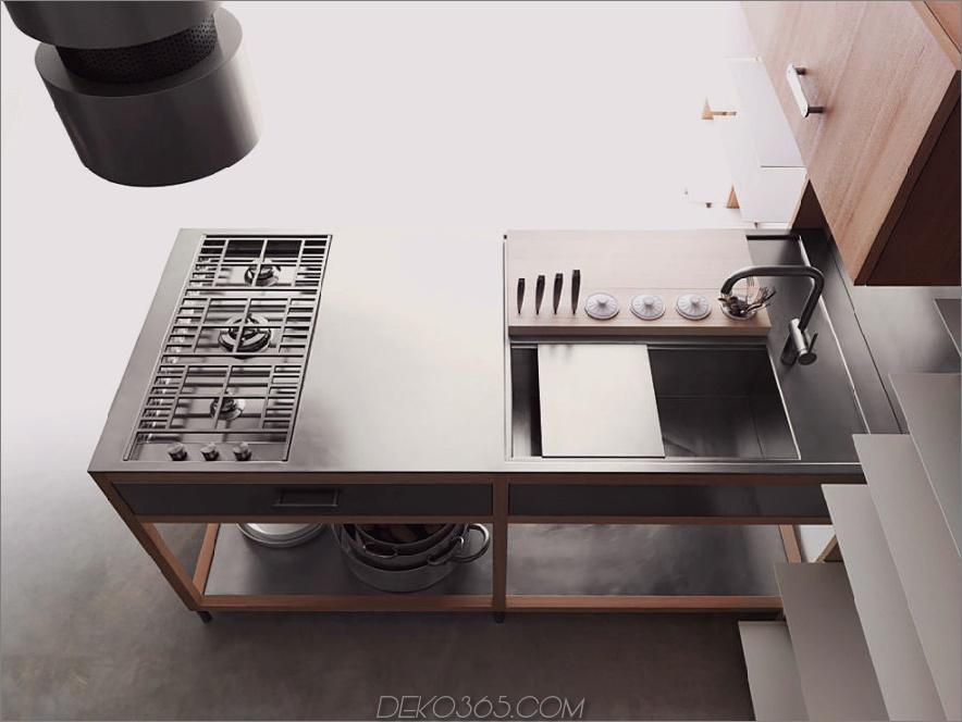 Lando Covivio modulare Küche mit abgewinkelter Spüle