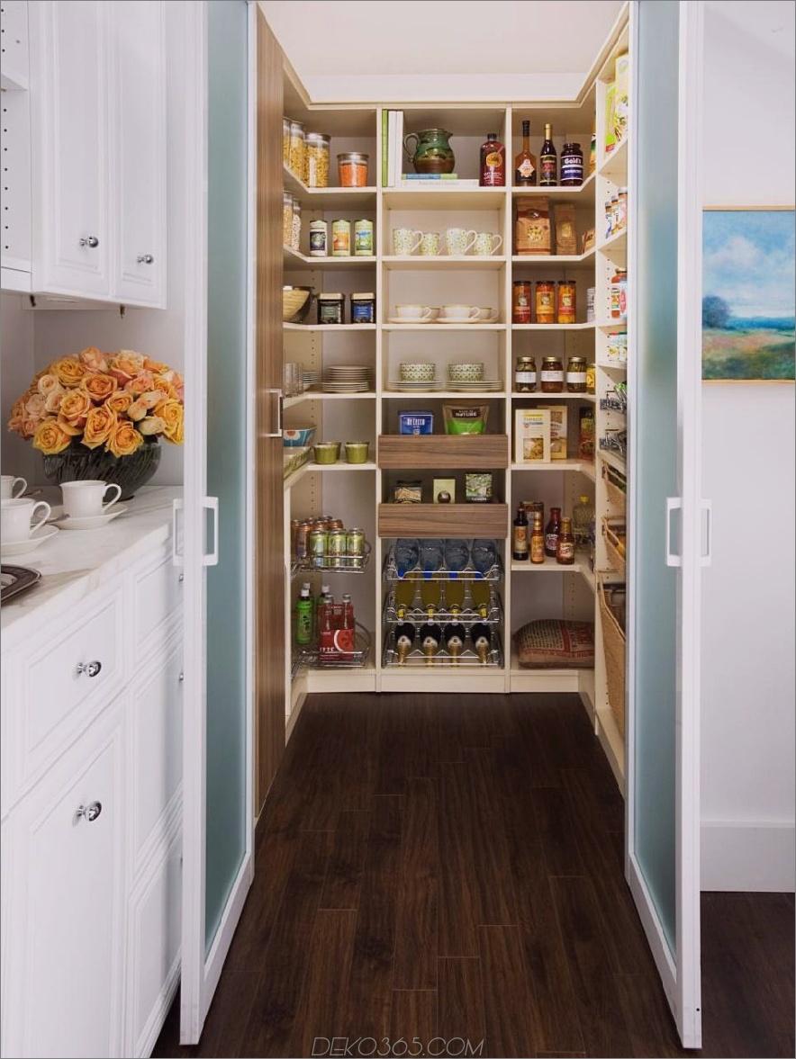 Milchglas-Pantry-Türen