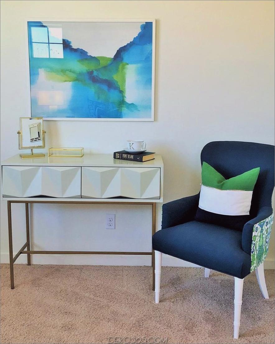 Aquarell Wandkunst in einem Wohnzimmer von Kerrie Kelly