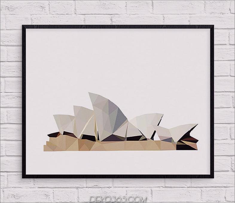 Geometrischer Sydney Opera House-Druck von Studio Ush