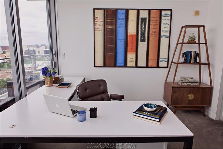 Abbe Fenimore Büro mit moderner Wandkunst