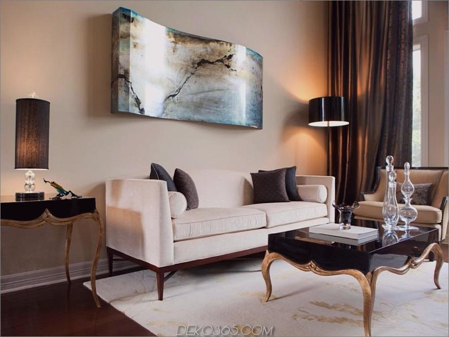 Abstrakte Wandkunst in einem Innenraum von Kris Swift